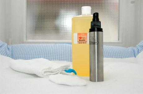 Babypflege: Feuchttücher mit Mandelöl selbstgemacht