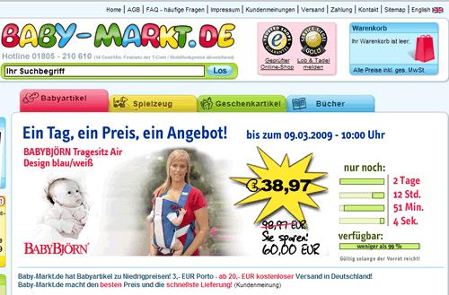 Liveshopping bei Baby-Markt.de: Baby Björn Air Tragesitz