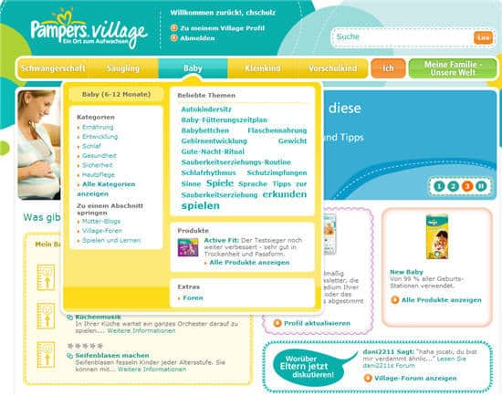 Pampers Village Community