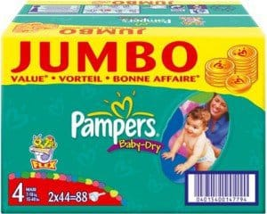 pampers jumbo pack baby dry active fit billig