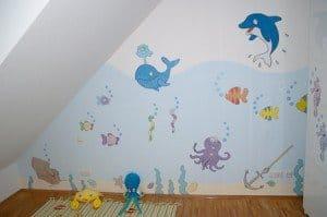 Fertiges Kinderzimmer Unterwasserwelt