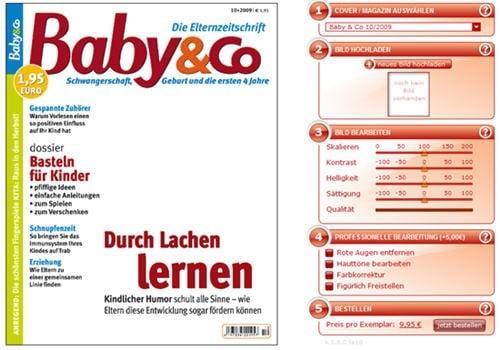 personalisierte Zeitschrift mit Foto auf dem Cover Titelblatt