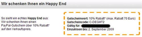 Ebay Gutschein-Code August bis September 2009
