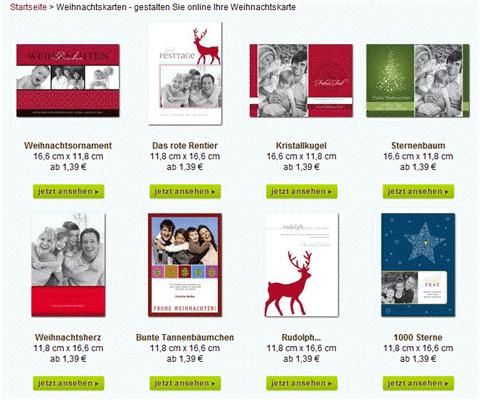 Weihnachtskarten mit Foto guenstig bei Wunderkarten