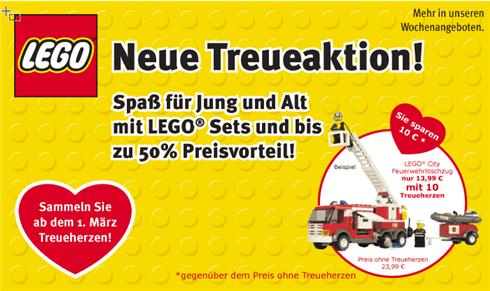 Lego für Treueherzen bei Kaiser-Tengelmann