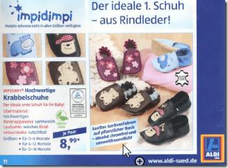 ALDI-KRabbelschuhe