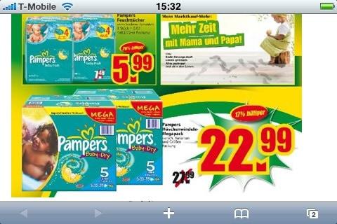 Pampers Angebot im Marktkauf