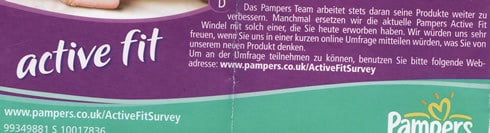 Neue Pampers Active Fit Beta Test