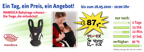 Manduca Babytrage reduziert