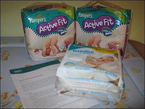 Pampers Testpaket Activ Fit Dry Max