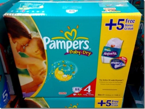 Pampers Baby Dry Actionspack mit 5 gratis Active Fit Windeln