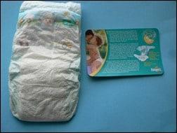 Neue Baby Dry mit Beipackzettel