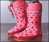 Kinder-Regenstiefel-Pink-Rot