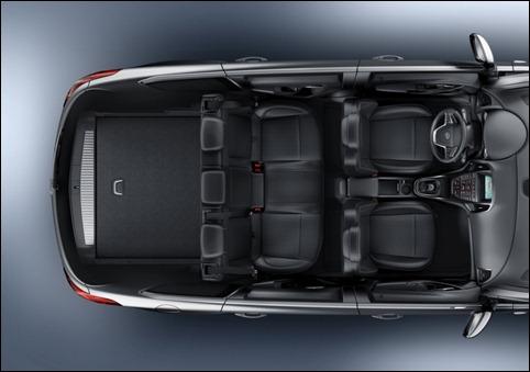 Familienauto Opel Astra Sports Tourer Ansicht Sitze Vogelperspektive