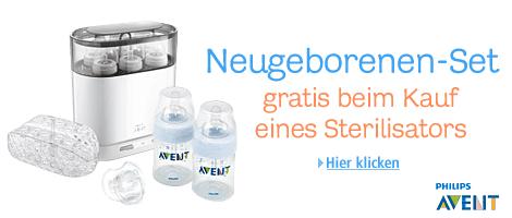Gratis Neugeborenen Set beim Kauf von Philips Avent 4-in-1 Sterilisator