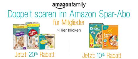 Amazon Pampers Promotion 20% Rabatt
