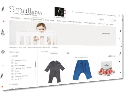 Smallable Online-Shop Kinderkleidung