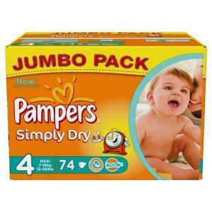 Pampers Simply Dry günstig