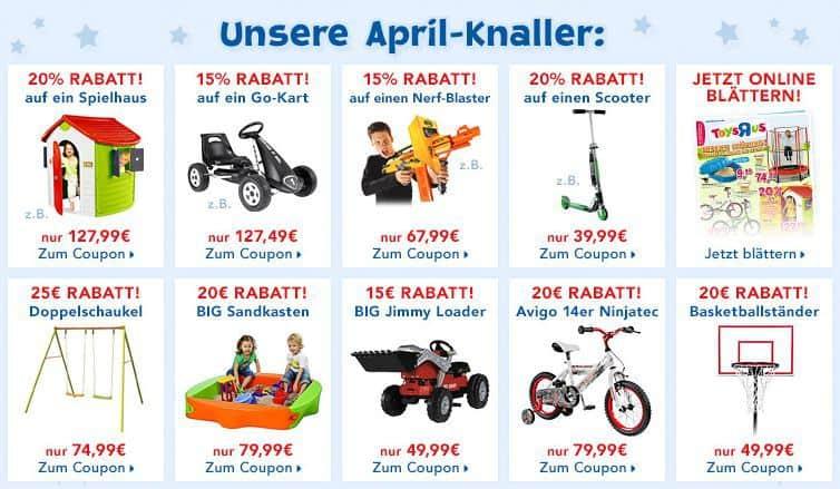 Toys R US Frühlingsrabatte