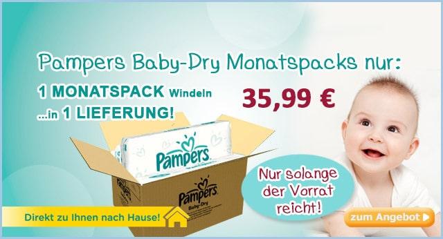 Baby Dry im Monatspack günstig im Tagesangebot