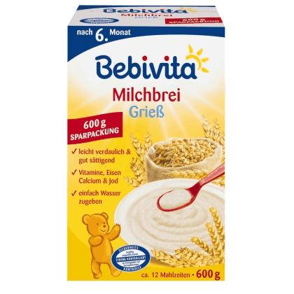Rückruf: Bebivita ruft Milchbrei Griess 600g mit MHD 30.09.2014 zurück