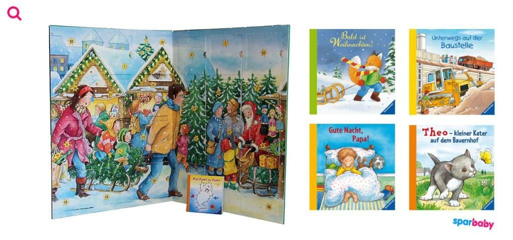 """Ravensburger """"Wir warten auf Weihnachten"""", Adventskalender 24 Minibücher zum Vorlesen und zur Kinderbeschäftigung"""