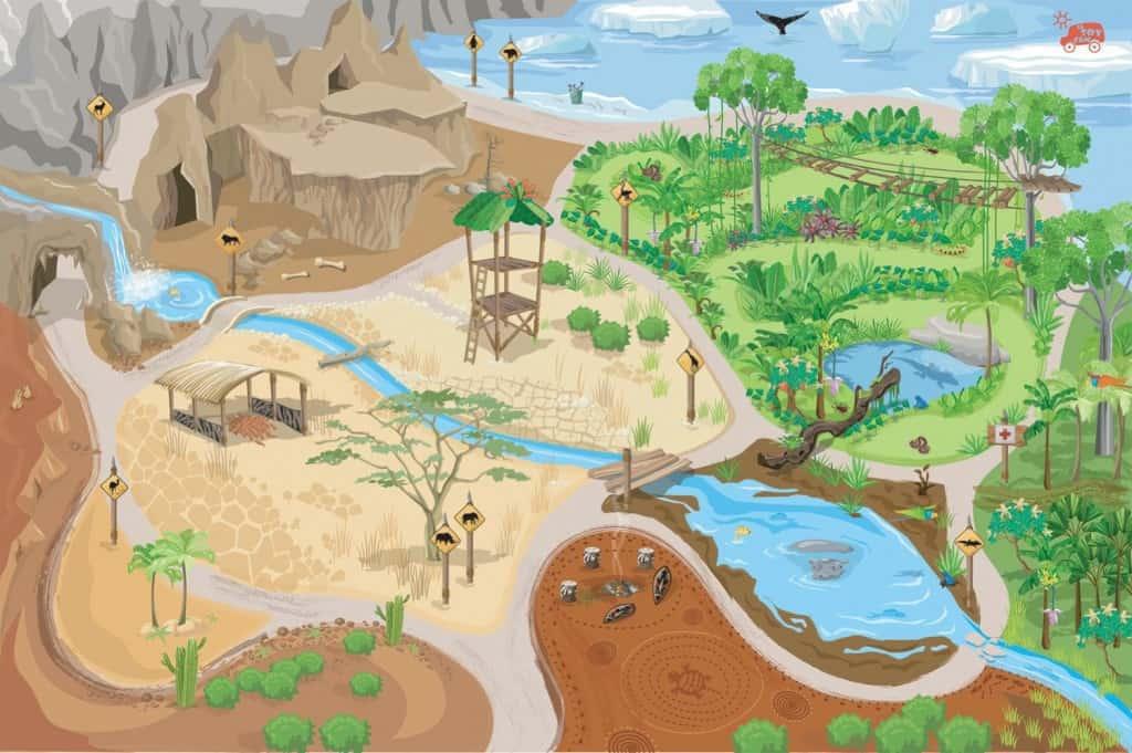 Spielteppich Safari