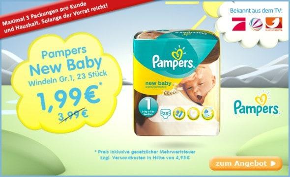 Pampers New Baby günstig im Angebot