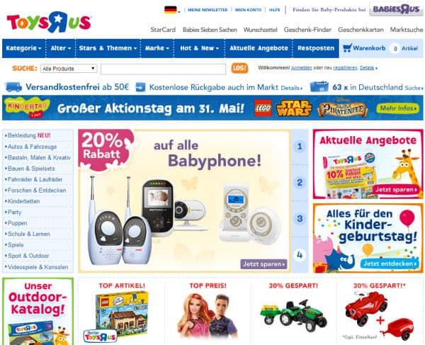 Angebote und Rabatte mit Gutscheinen im Toys R Us Shop
