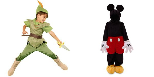 Kostüme Peter Pan und Micky Maus