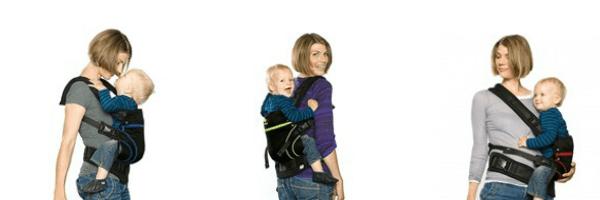 Tragevarianten der Babytrage