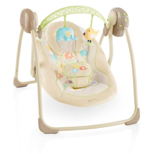 Bright Starts 7130 Babyschaukel Elepaloo, portable