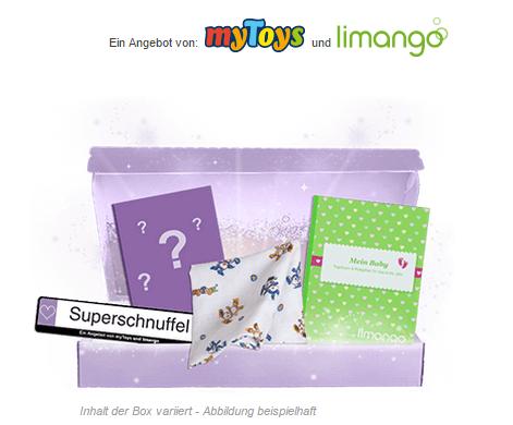 Erste Schritte Baby-Box mit Gratisartikeln bei Limango und mytoys gewinnen