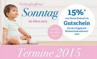 Baby-Markt Gutschein zum Verkaufsoffenen Sonntag