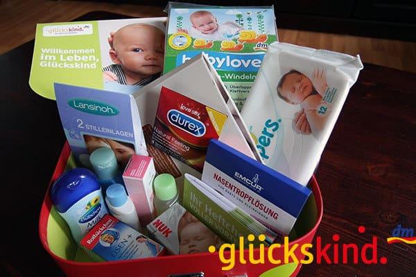 dm-glueckskind-Box - gratis Willkommenspaket
