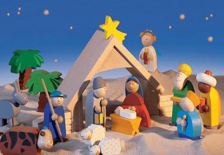 Haba Weihnachtskrippe.Eine Weihnachtskrippe Aus Holz Für Kinder Holzkrippen Im Advent