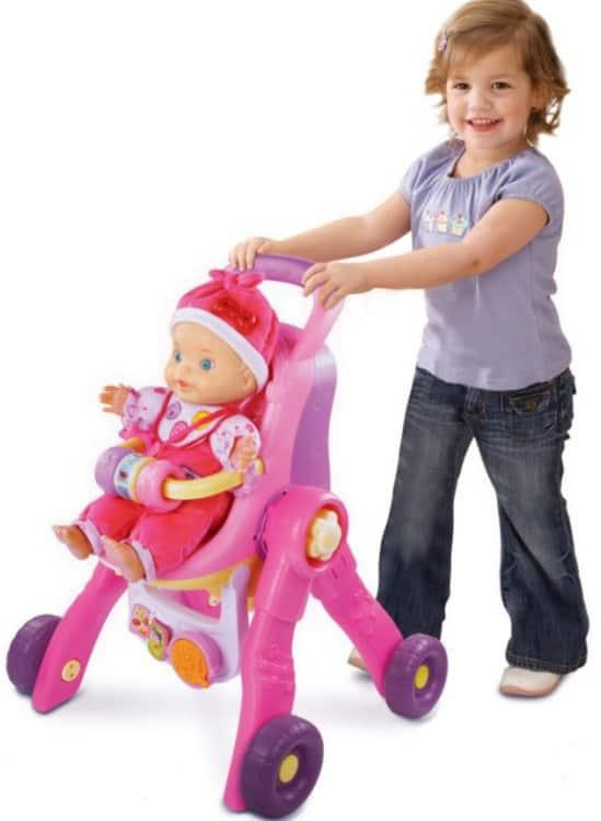 VTech Puppenwagen und Puppe