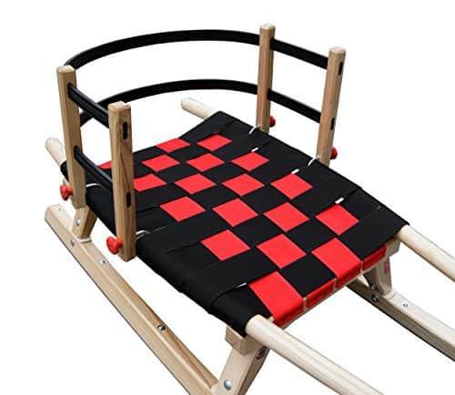 Kathrein Rodel Kinder Lehne flexibel mit Klammern, rot, 45