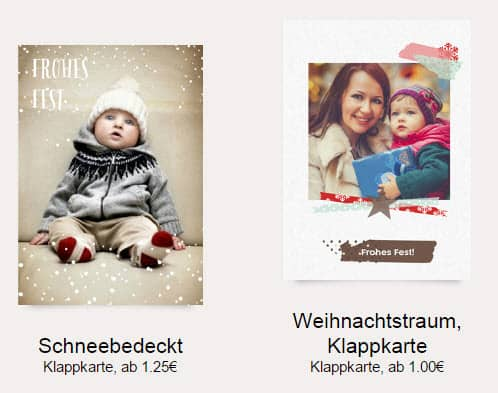 Persönliche Weihnachtskarten mit euren Fotos – bis 60% Rabatt ...