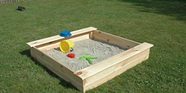 sandkasten aus unbehandeltem Holz