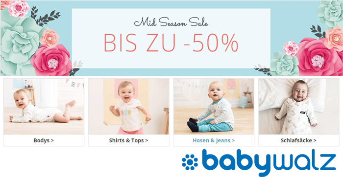 Baby-Walz: Bis zu -50% im Midseason-Sale sparen!