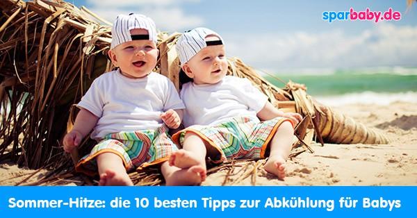 Abkühlung - die besten Tipps für Baby und Kleinkinder bei Hitze