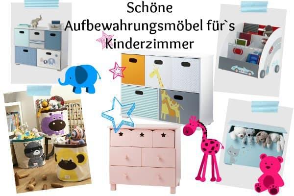 schöne Aufbewahrungsmöbel für`s Kinderzimmer