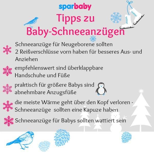Tipps zu Baby-Schneeanzügen ©Sparbaby