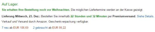 Lieferfrist AMZ