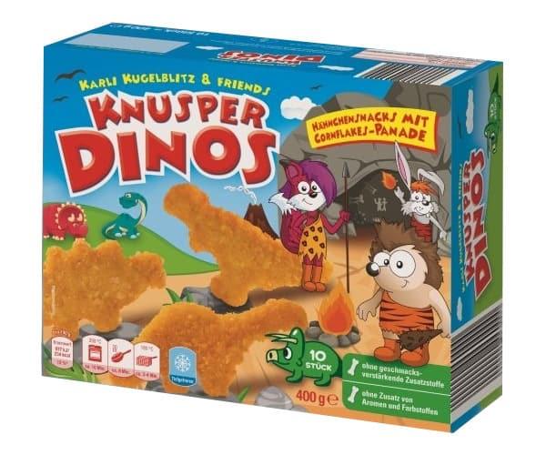 """Rückruf für Hähnchensnacks """"Knusper Dinos"""""""