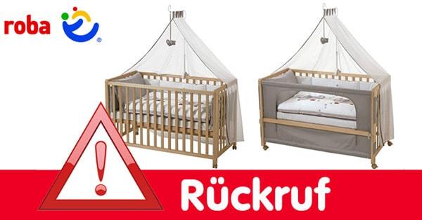 Rückruf: Roba ruft Babybett & Kombi-Kinderbett