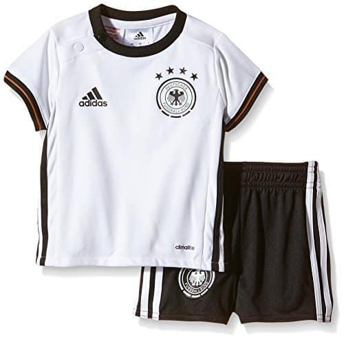 adidas Kinder Trikot UEFA EURO 2016 DFB Baby-Heimausrüstung, weiß/schwarz, 74, AA0125