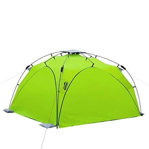 Qeedo - Quick Plane (SET) Familien Strandmuschel mit UV-Schutz (Strandpavillon) - grün mit Seitenwänden