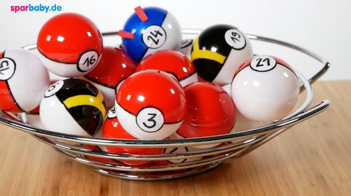 DIY Pokemon Adventskalender Pokéball